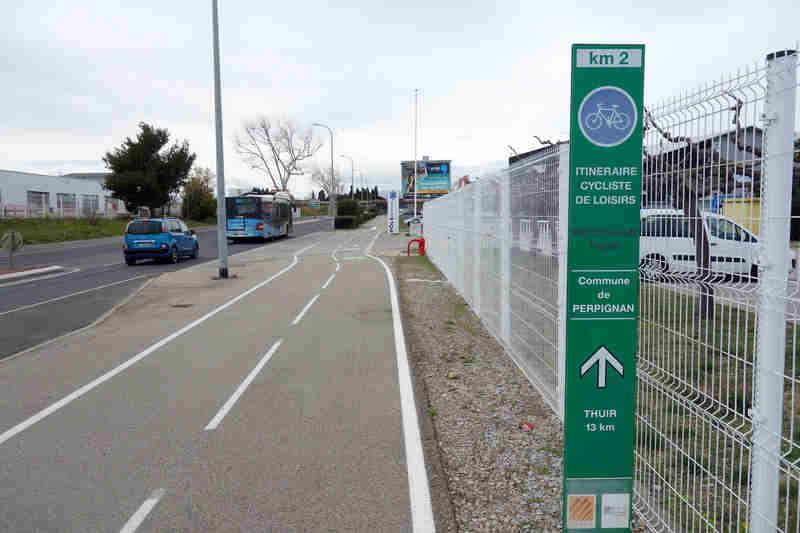 Piste Verte Itineraire Cycliste De Loisirs Perpignan Thuir En Vtt